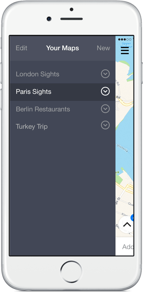 app screenshot - multiple maps